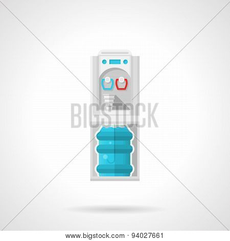 Flat gray water cooler vector icon