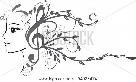 beauty and music note design