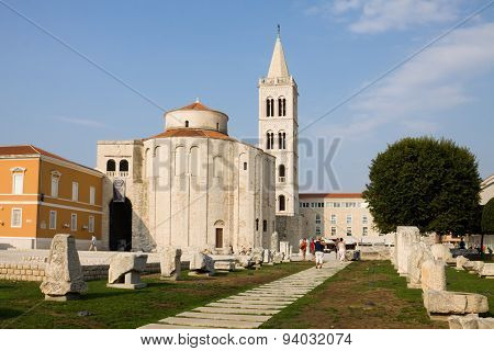 The Roman Forum In Zadar