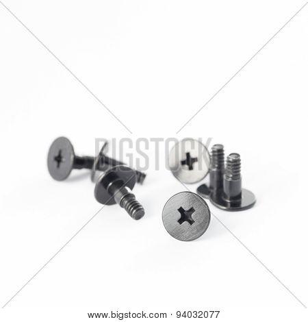 Pile of metal fasteners