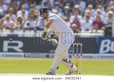 NOTTINGHAM, ENGLAND - July 12, 2013: England's Kevin Pietersen batting during day three of the first Investec Ashes Test match at Trent Bridge Cricket Ground on July 12, 2013 in Nottingham, England.