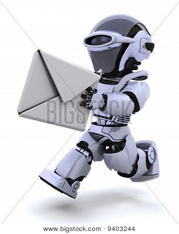 Running Robot With Envelope