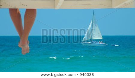 Feet And Boat