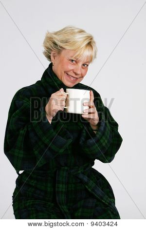 Senior Woman With Coffee