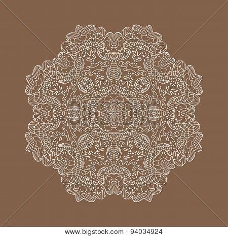 Vector lace decorative ornament