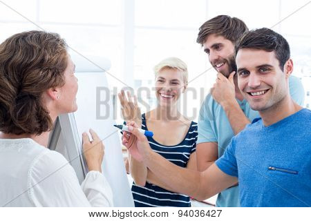 Creative business team in meeting at office