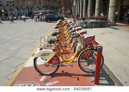 Row Of City Bikes
