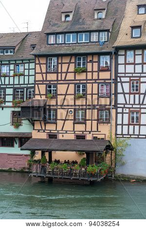 Strasbourg, water canal in Petite France area