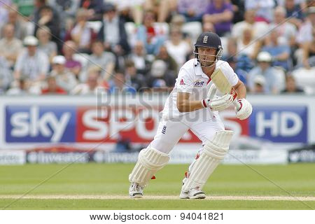 CHESTER LE STREET, ENGLAND - August 11 2013: Jonathan Trott during day three of the Investec Ashes 4th test match at The Emirates Riverside Stadium, on August 11, 2013 in London, England.