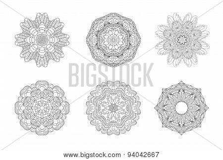 Round ornament pattern set
