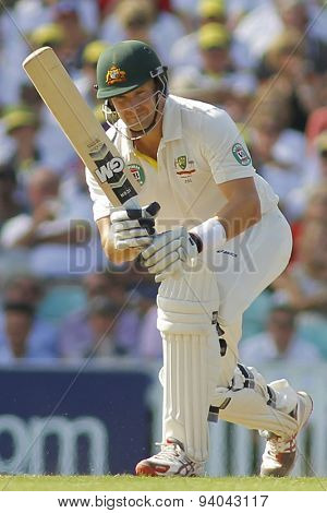 LONDON, ENGLAND - August 21 2013: Shane Watson during day one of the 5th Investec Ashes cricket match between England and Australia played at The Kia Oval Cricket Ground on August 21, 2013