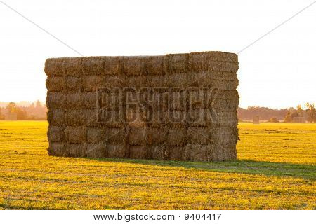 Haystack At Sunset