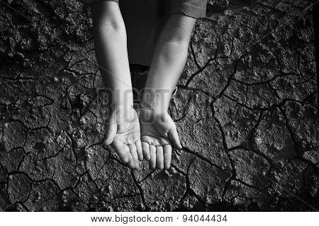 Hands begging gesture