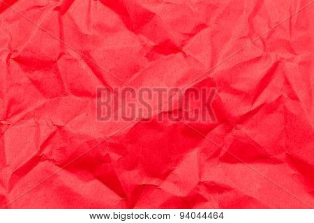 Red wrinkled paper