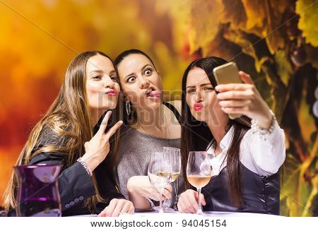Three beautiful woman