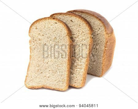 Loaf Of Bread A Close-up. Isolated On White Background
