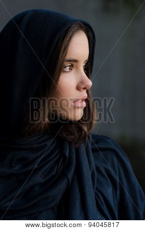 Portrait Of The Beautiful Muslim Girl