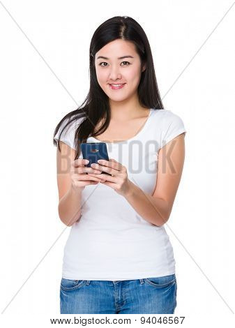 Young woman use of the mobile phone