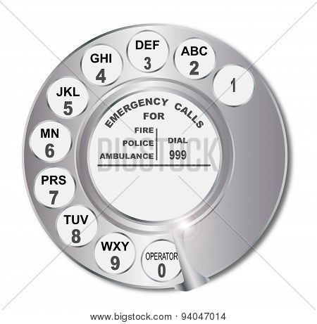 Old Style Letter Number Dial