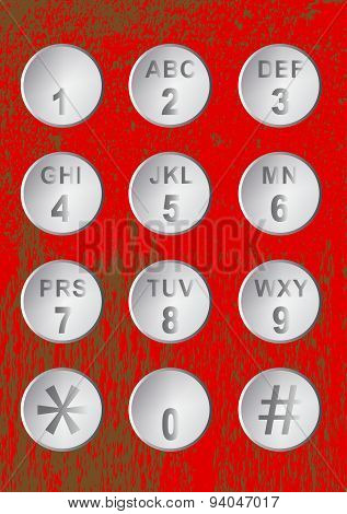 Numerical Code Buttons