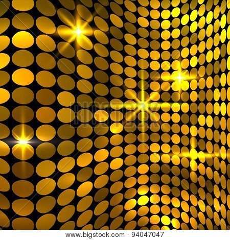 Wavy Golden Mosaic Background
