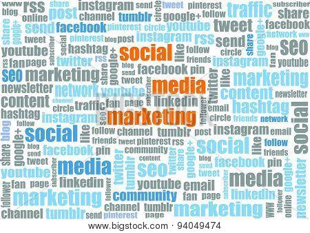 social media marketing tagcloud