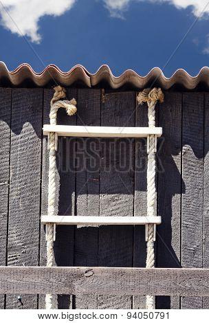 Ladder on fisherman shed