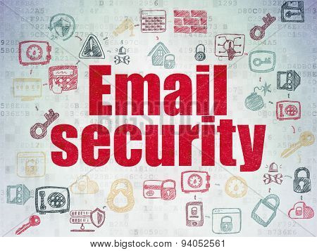 Security concept: Email Security on Digital Paper background