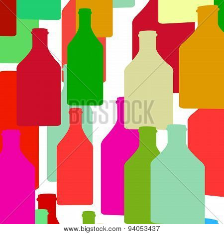 Bottle Silhouette Color