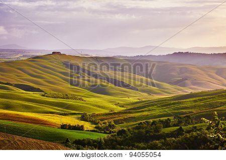 Tuscany hills. Italy. May.