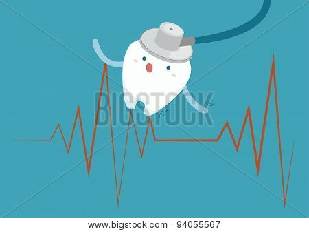 Tooth with heartbeat