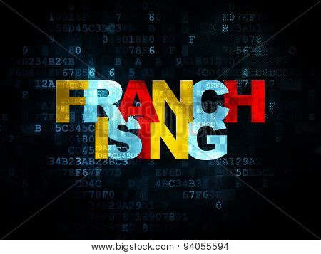 Business concept: Franchising on Digital background