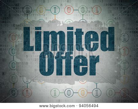 Business concept: Limited Offer on Digital Paper background