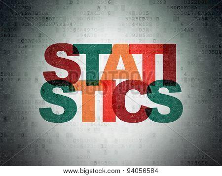 Business concept: Statistics on Digital Paper background