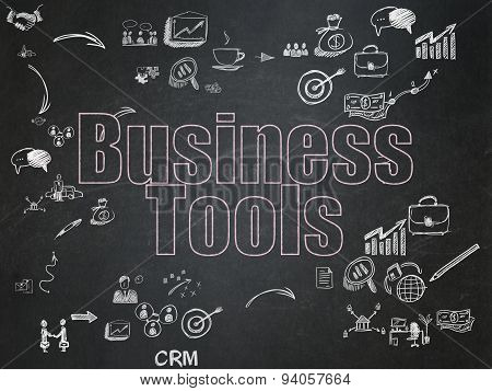 Business concept: Business Tools on School Board background