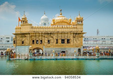 The Golden Temple Of Siks In Amritsar