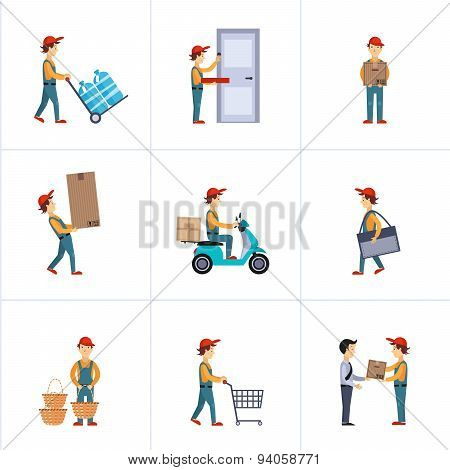 Delivery Person Freight Logistic Business Service