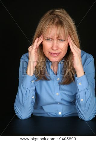 Middle Aged Woman With Headache