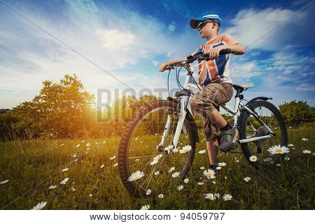 kid on bicycle. Active Leisure