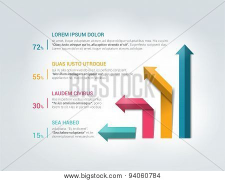 Infographics Flowchart. Vector.
