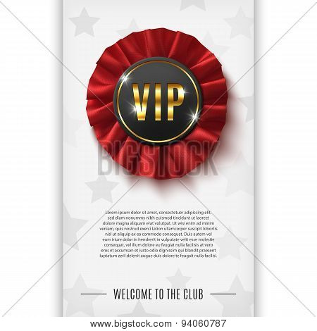 VIP background with realistic award ribbon.