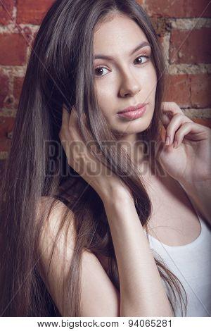 Portrait girl natural beauty