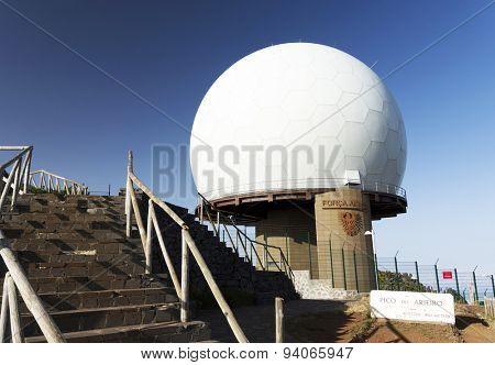 Radar station at top of Pico do Arieiro, Madeira Island, Portugal