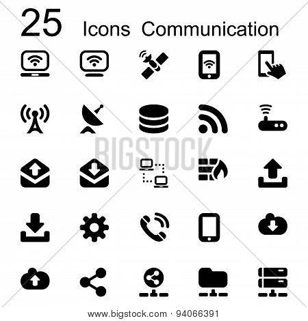 25 Basic Iconset Communication