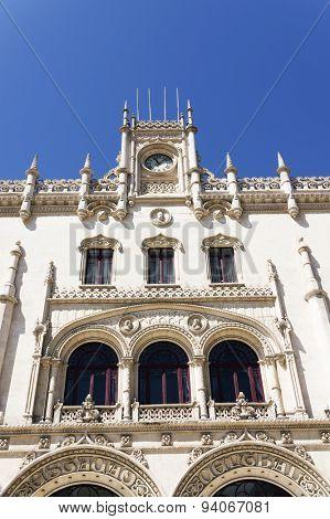 Rossio Railway Station entrance, Lisbon, Portugal