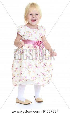 Loud laughing little girl