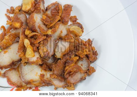 Fried Pork With Garlic