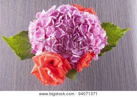 Geranium And Roses