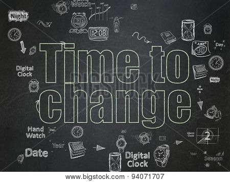 Time concept: Time to Change on School Board background