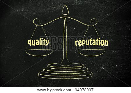 Finding A Good Balance In Business: Quality & Good Reputation